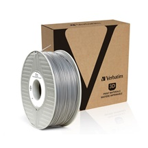 VERBATIM 3D Printer Filament PLA 1.75mm, 335m, 1kg silver/metal grey (55275)