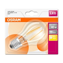 OSRAM LED STAR CL A Filament 4W 827 E27 470lm 2700K (CRI 80) 15000h A++ (Blistr 1ks)