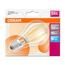 OSRAM LED STAR CL A Filament 11W 840 E27 1521lm 4000K (CRI 80) 10000h A++ (Blistr 1ks)